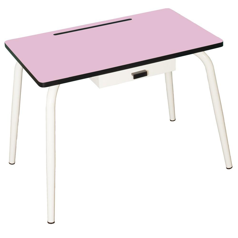 bureau l mentaire romy vieux rose les gambettes design. Black Bedroom Furniture Sets. Home Design Ideas