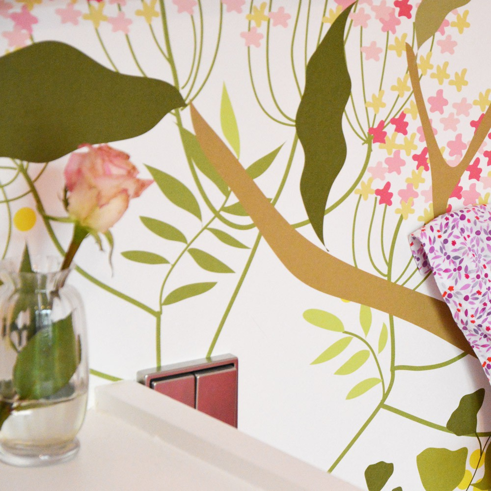 Carta da parati d cor botanico 300x350cm multicolore little for Carte parati decorative