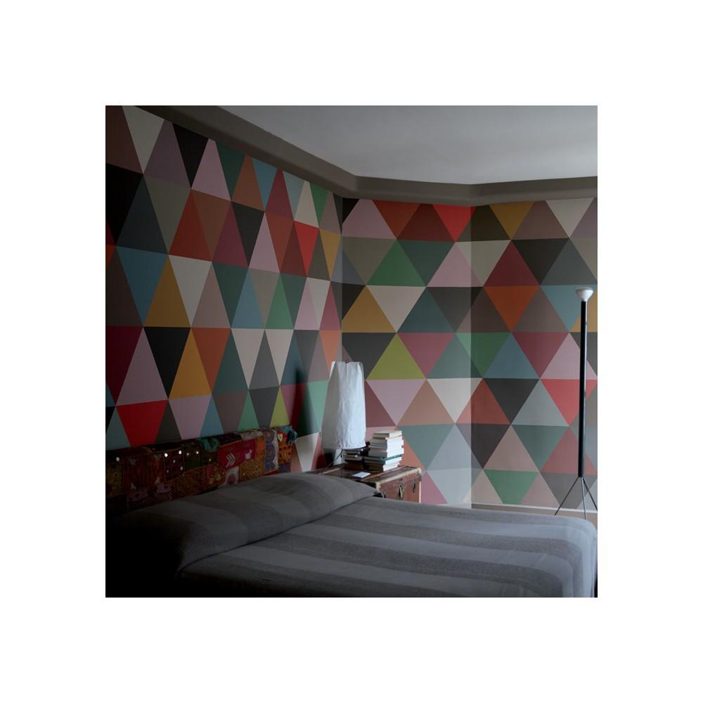 Papel pintado mosaico tri ngulos 182x280 cm 2 l s multicolor - Papel pintado mosaico ...