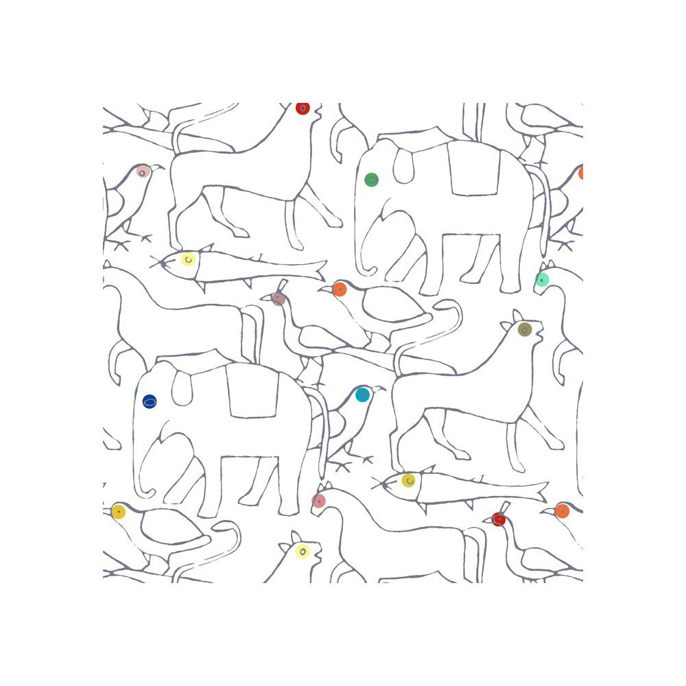 Papel pintado animales 182x280 cm 2 l s multicolor bien fait - Papel pintado animales ...