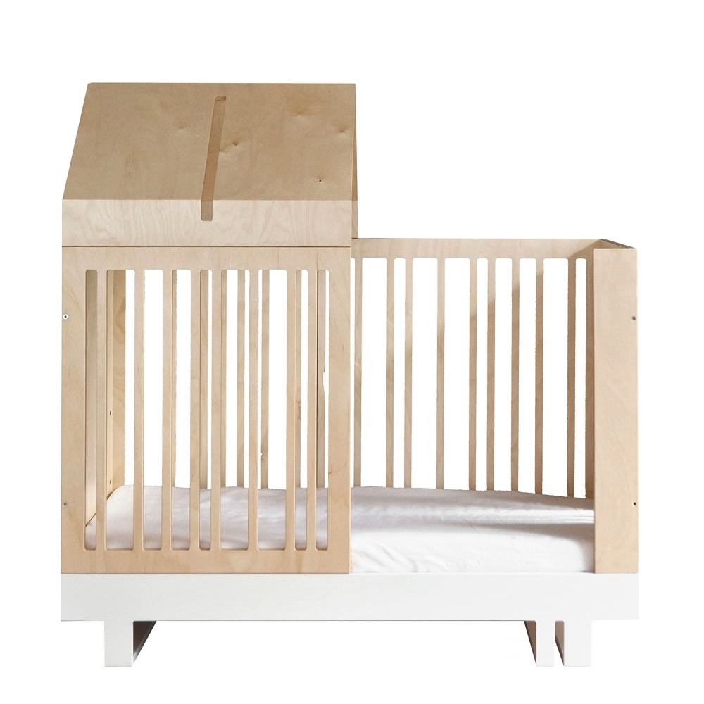 Kit evolutivo con techo caso para cama natural kutikai design - Cama con techo de tela ...