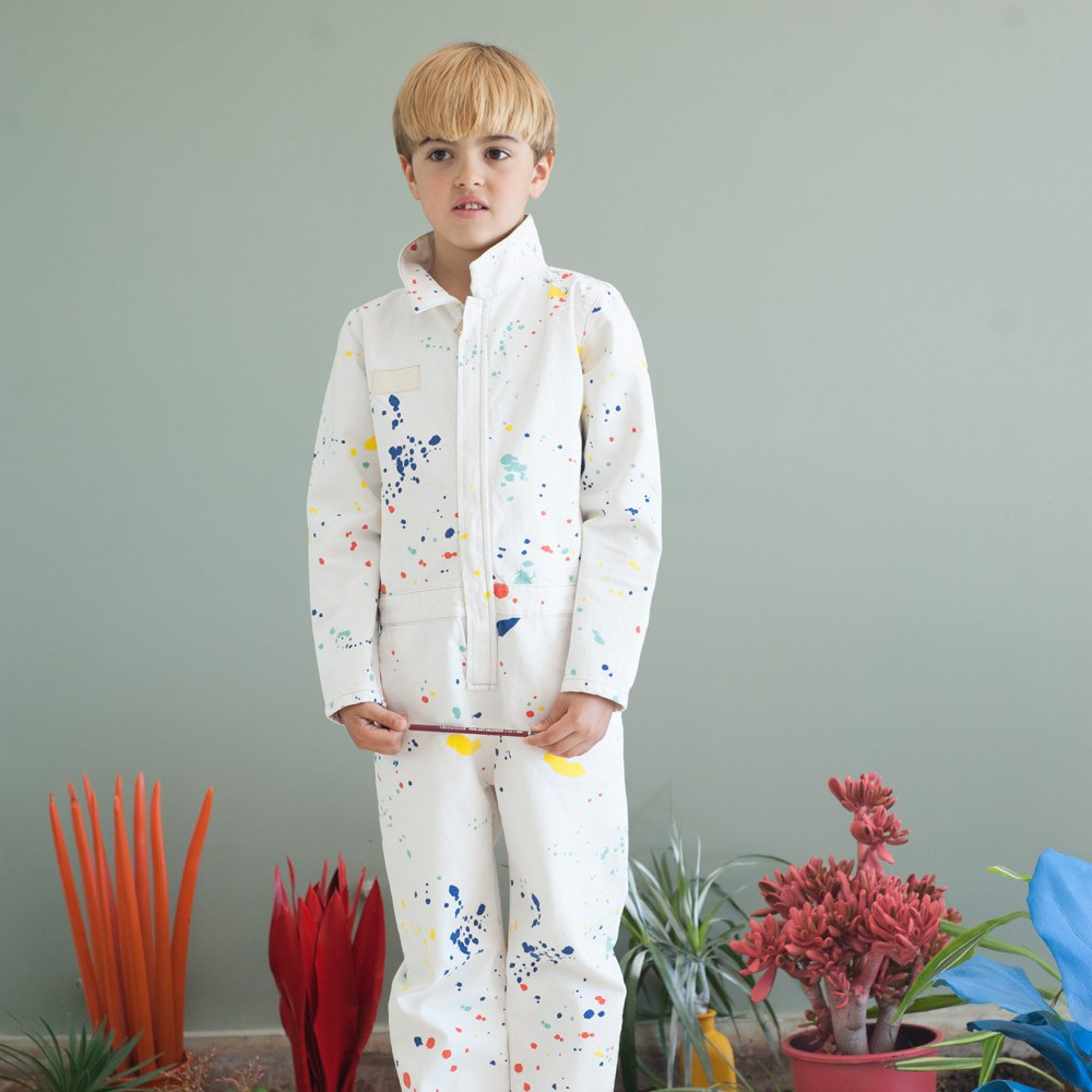 Combinaison Peinture Bobo Blanc Bobo Choses Mode Enfant