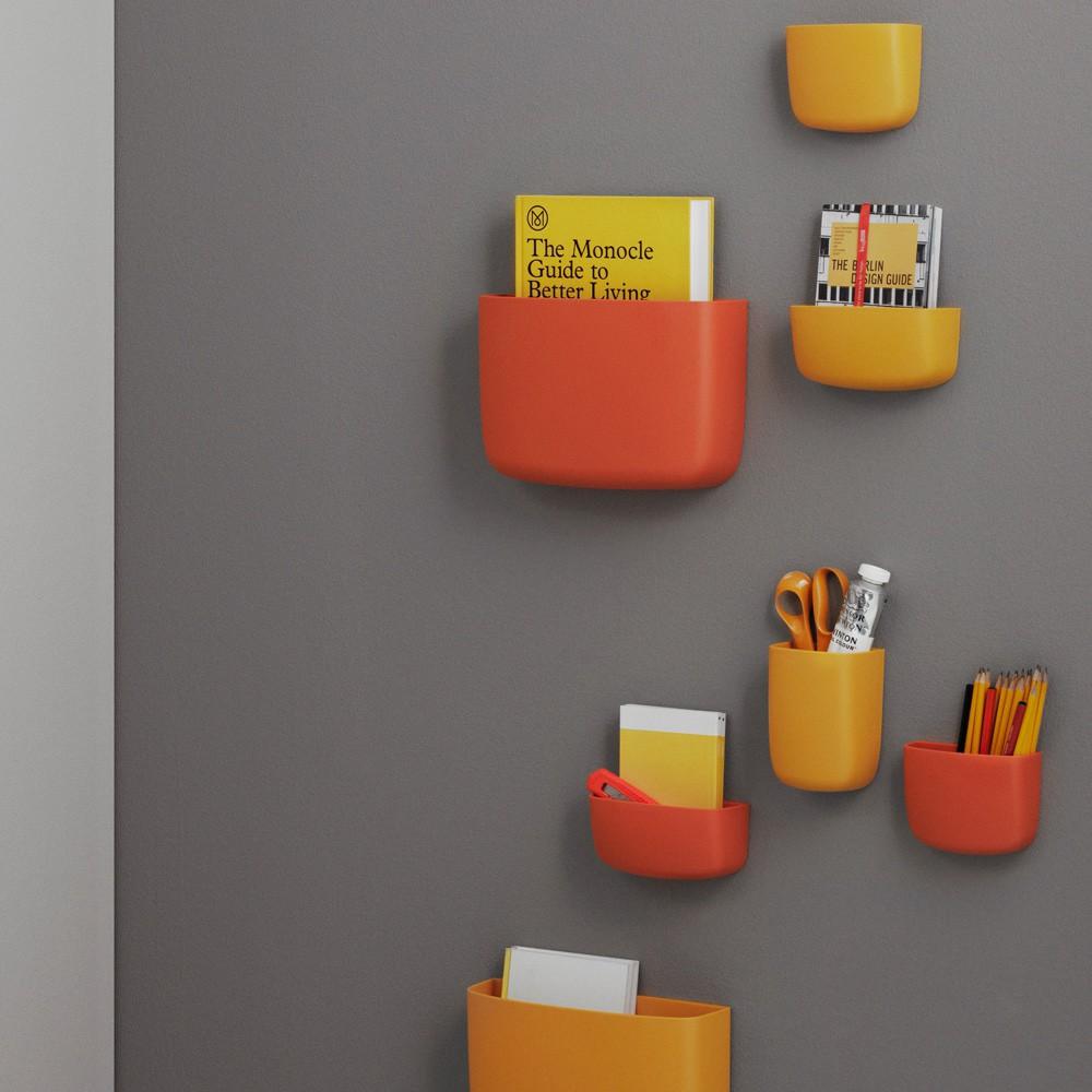 Rangement mural 4 orange normann copenhagen design enfant - Rangement mural enfant ...