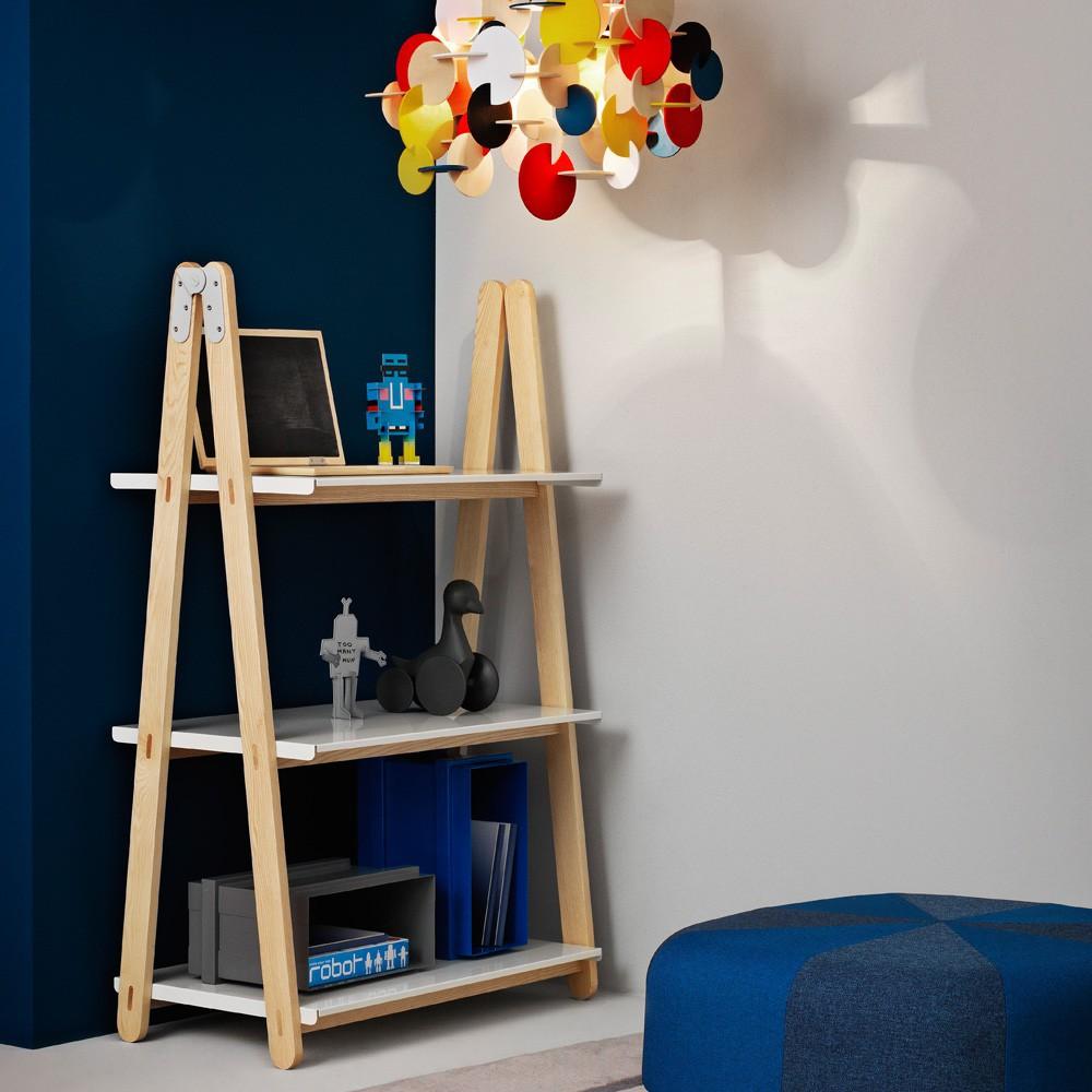 biblioth que basse one step up blanc normann copenhagen design. Black Bedroom Furniture Sets. Home Design Ideas