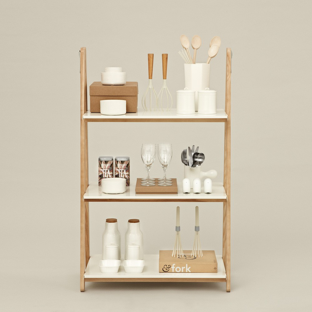 Biblioth que basse one step up blanc normann copenhagen design - Bibliotheque basse design ...