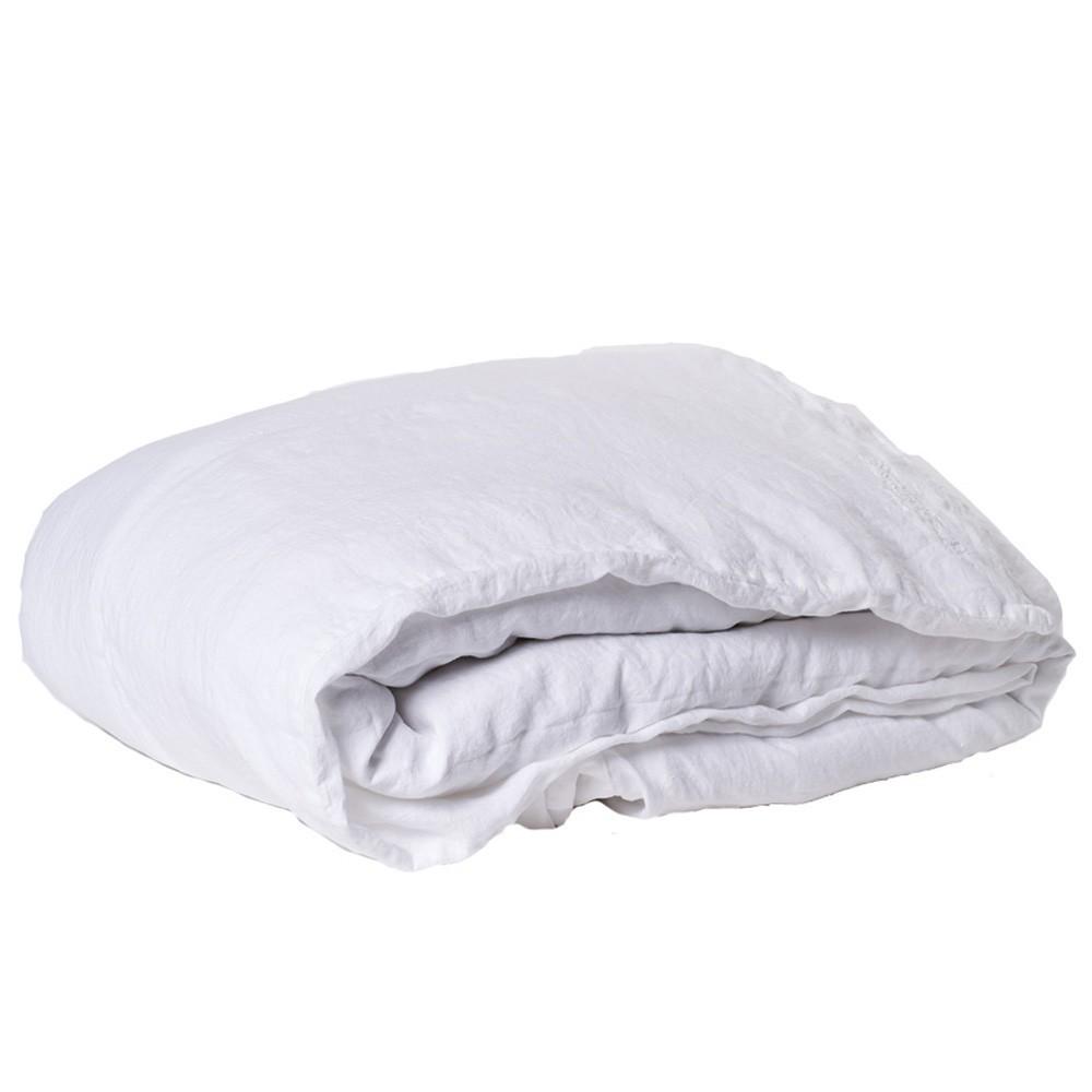 housse de couette en lin lav blanc bed and philosophy design. Black Bedroom Furniture Sets. Home Design Ideas