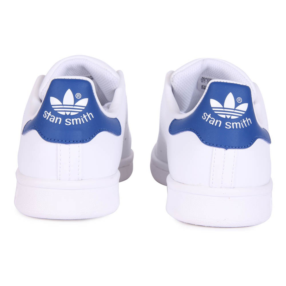 baskets cuir lacets stan smith bleu blanc adidas chaussure. Black Bedroom Furniture Sets. Home Design Ideas