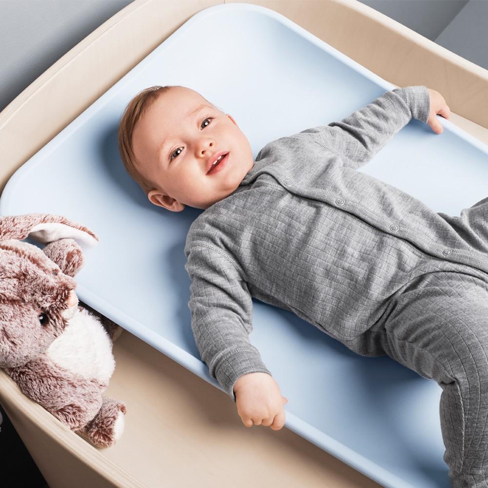 Matelas à langer en forme Matty Gris Leander Design Bébé