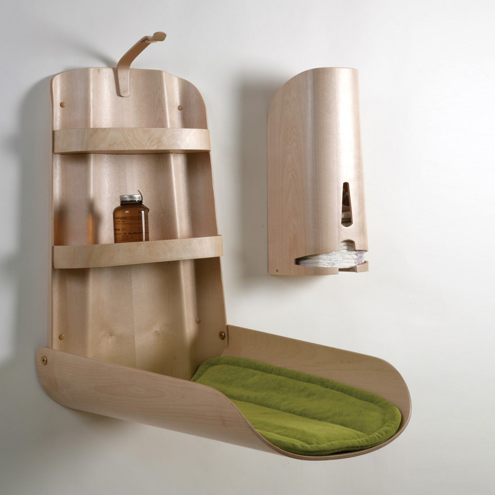 Wall Mounted Changing Table Natural By Bo Design Design Baby