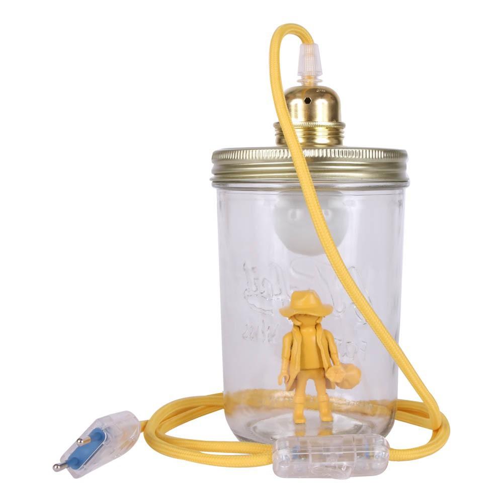 lampe bocal poser playmobil jaune la t te dans le bocal. Black Bedroom Furniture Sets. Home Design Ideas