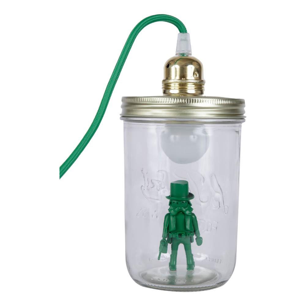 lampe bocal poser playmobil vert la t te dans le bocal design. Black Bedroom Furniture Sets. Home Design Ideas