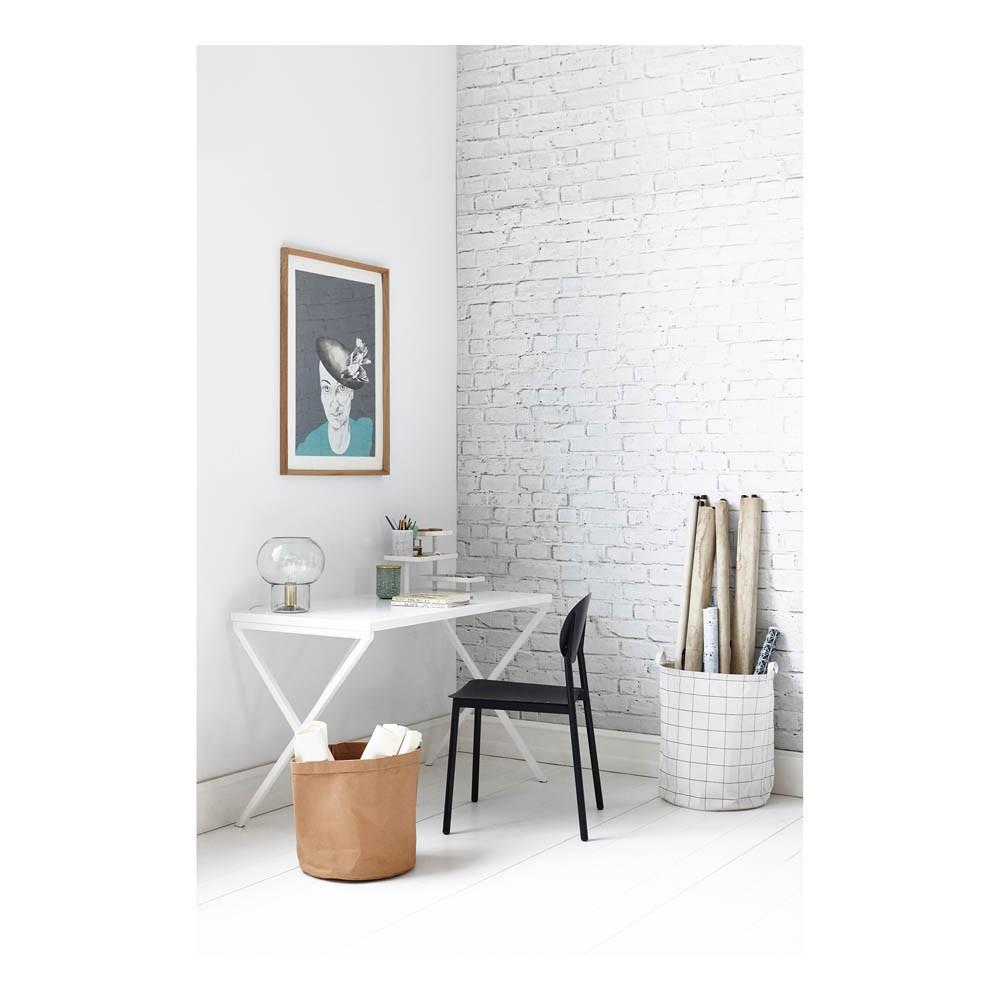 bureau en m tal avec plateaux blanc house doctor design adulte. Black Bedroom Furniture Sets. Home Design Ideas