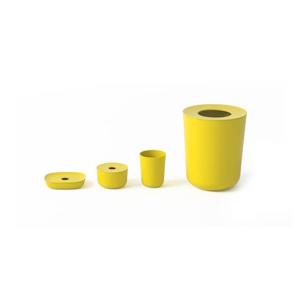 set de 4 accessoires bano salle de bain jaune ekobo design enfant. Black Bedroom Furniture Sets. Home Design Ideas