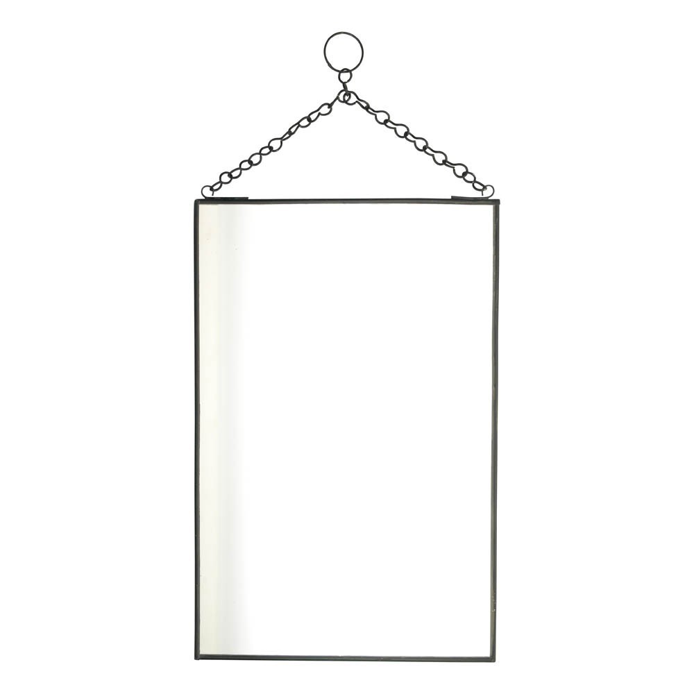 Miroir vertical noir madam stoltz design adolescent enfant for Miroir vertical