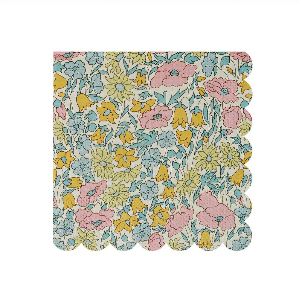 Serviettes en papier motif liberty poppy daisy set de 20 - Serviette en papier motif ...