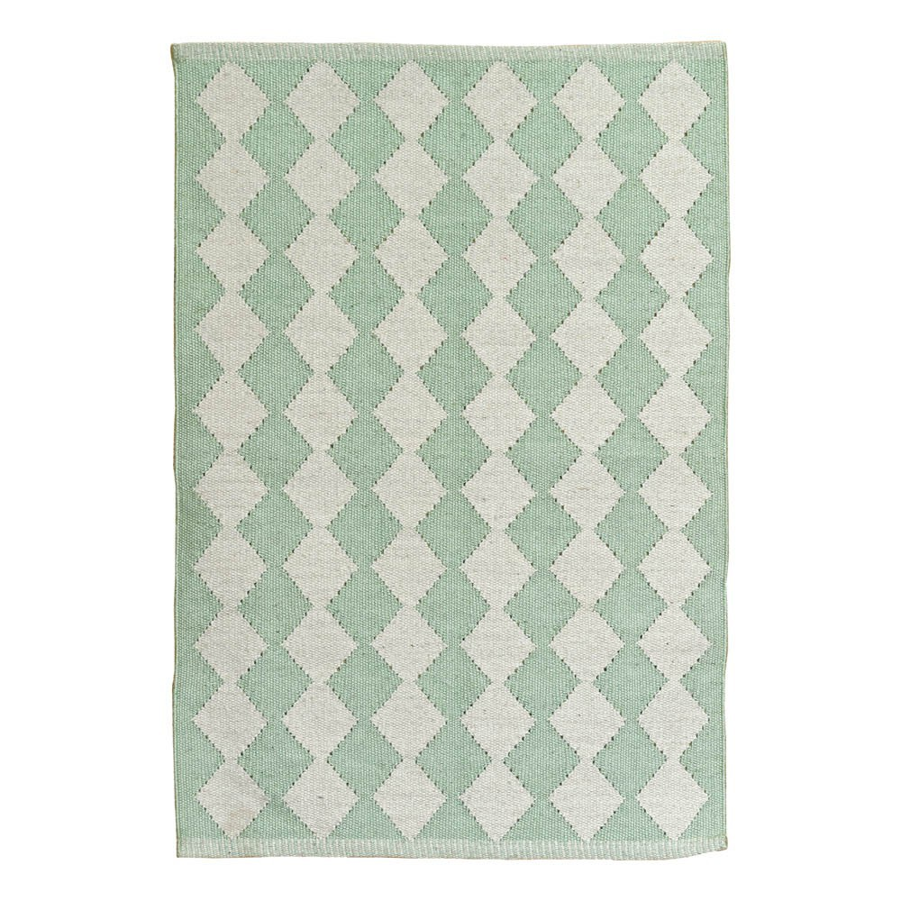 Alfombra de algod n diamond verde p lido liv interior design - Alfombras de algodon ...