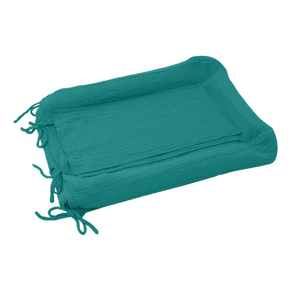 Housse de matelas langer bleu turquoise numero 74 design for Housse a langer