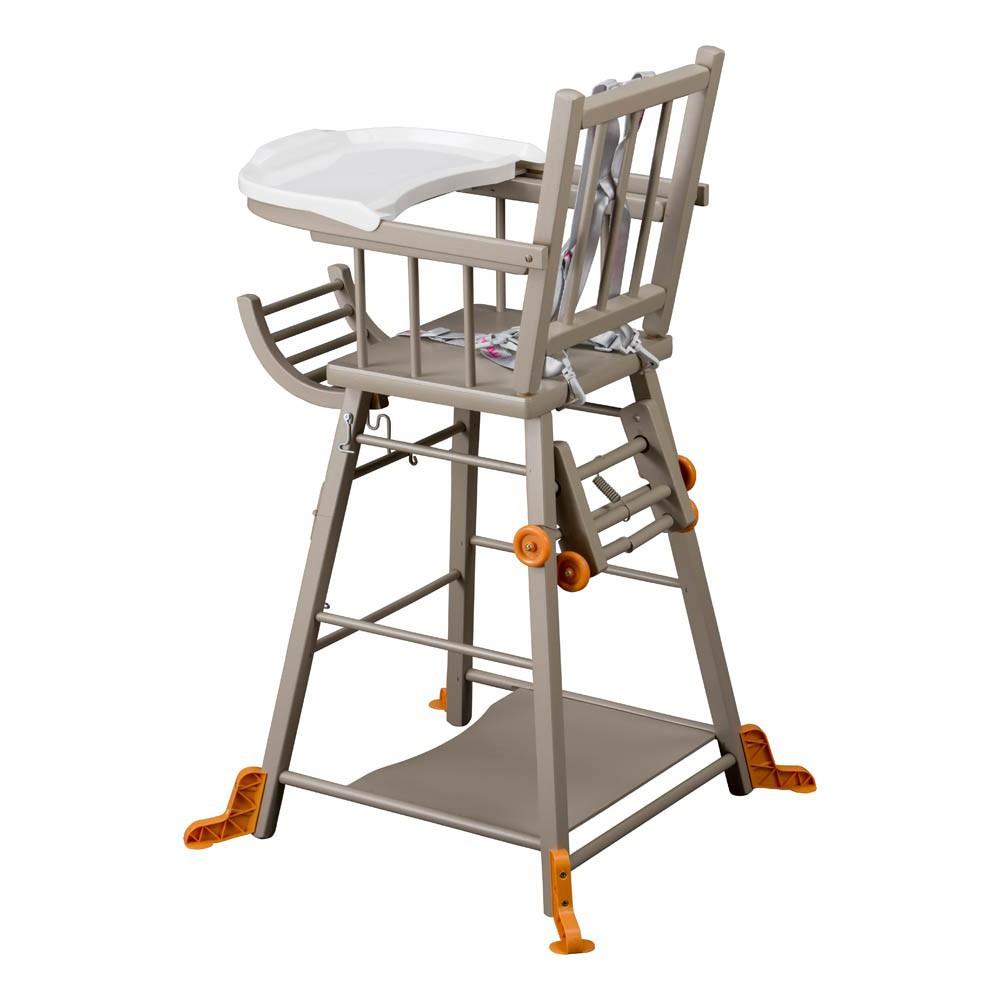 chaise haute transformable marcel laqu gris combelle design. Black Bedroom Furniture Sets. Home Design Ideas