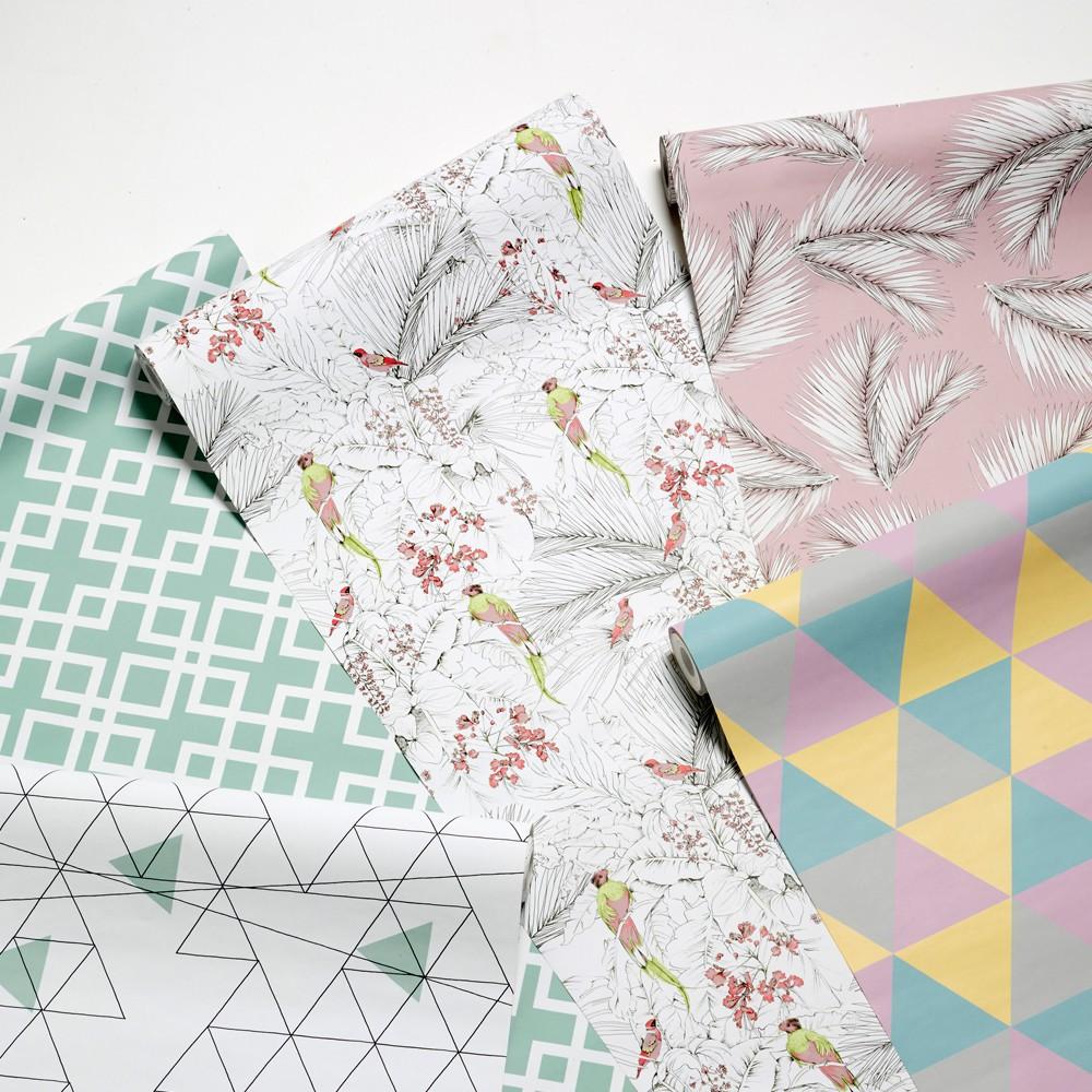 papier peint palme 10x53 cm rose poudr les gambettes design. Black Bedroom Furniture Sets. Home Design Ideas