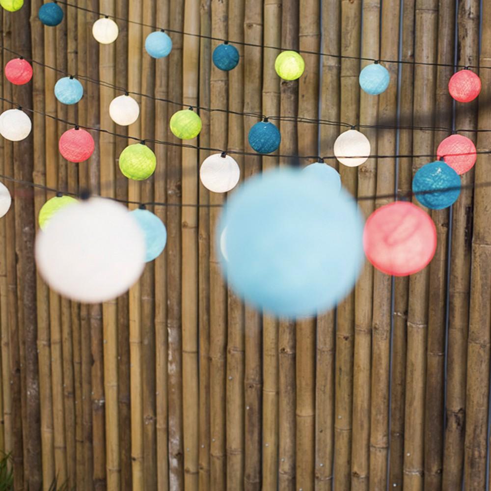 guirlande lumineuse outdoor 24 boules blue lagoon multicolore la. Black Bedroom Furniture Sets. Home Design Ideas