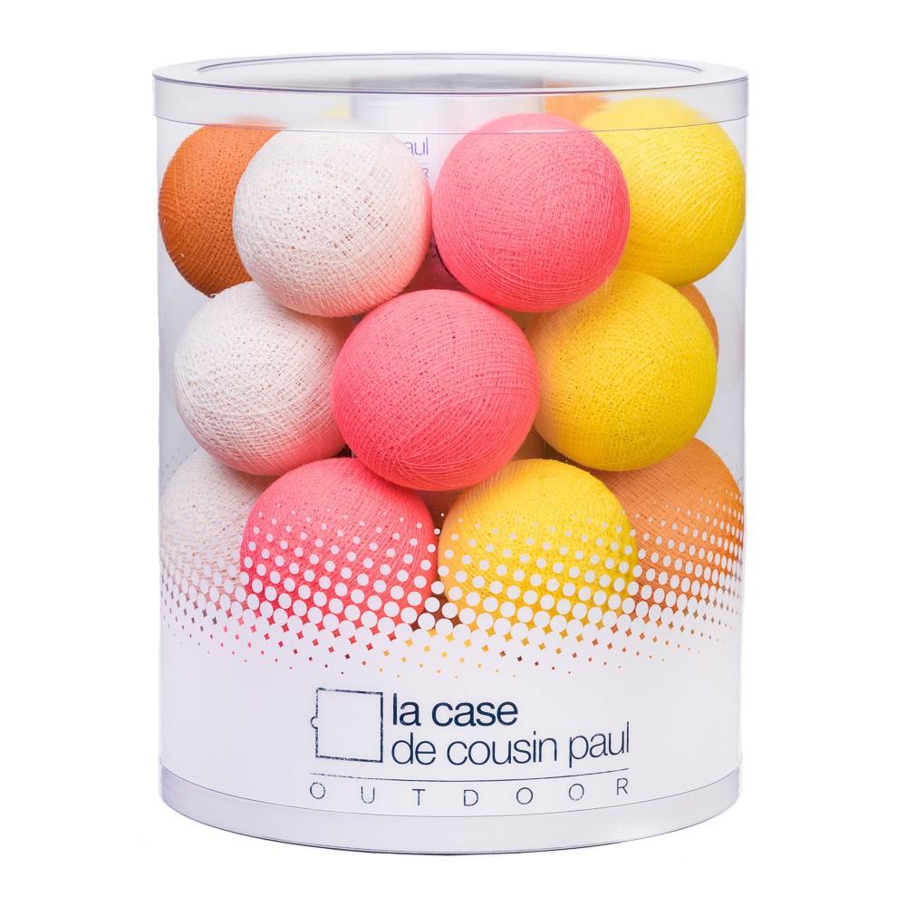 guirlande lumineuse outdoor 24 boules ma ta multicolore la. Black Bedroom Furniture Sets. Home Design Ideas