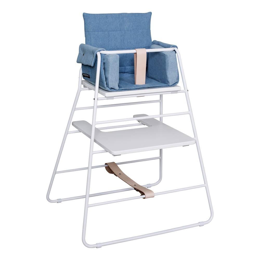 coussin towerblock pour chaise haute denim budtzbendix design. Black Bedroom Furniture Sets. Home Design Ideas