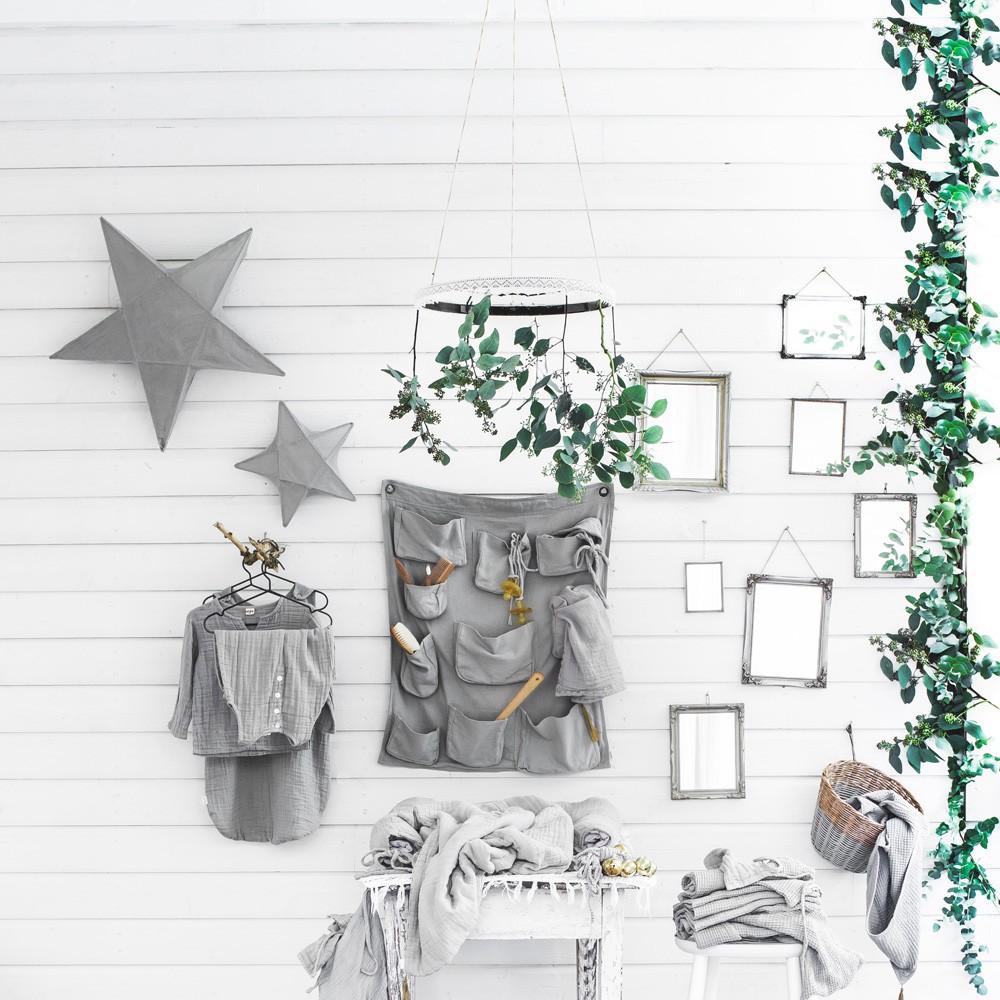 Wall Tidy Pouch Grey Numero 74 Design Children