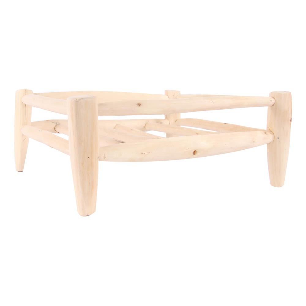 Cesta de madera cuadrada 30x30 cm natural smallable home - Cestos de madera ...