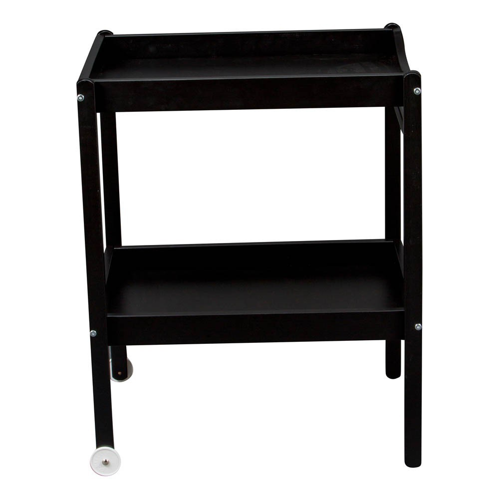 Table langer laqu noir combelle design b b - Table a langer compact ...
