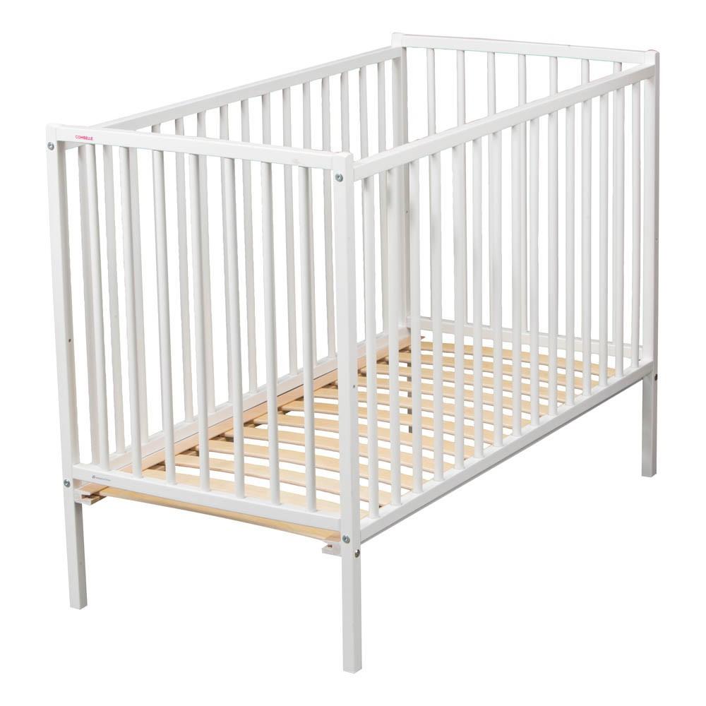 lit b b r mi 70x140 cm laqu blanc combelle design b b. Black Bedroom Furniture Sets. Home Design Ideas