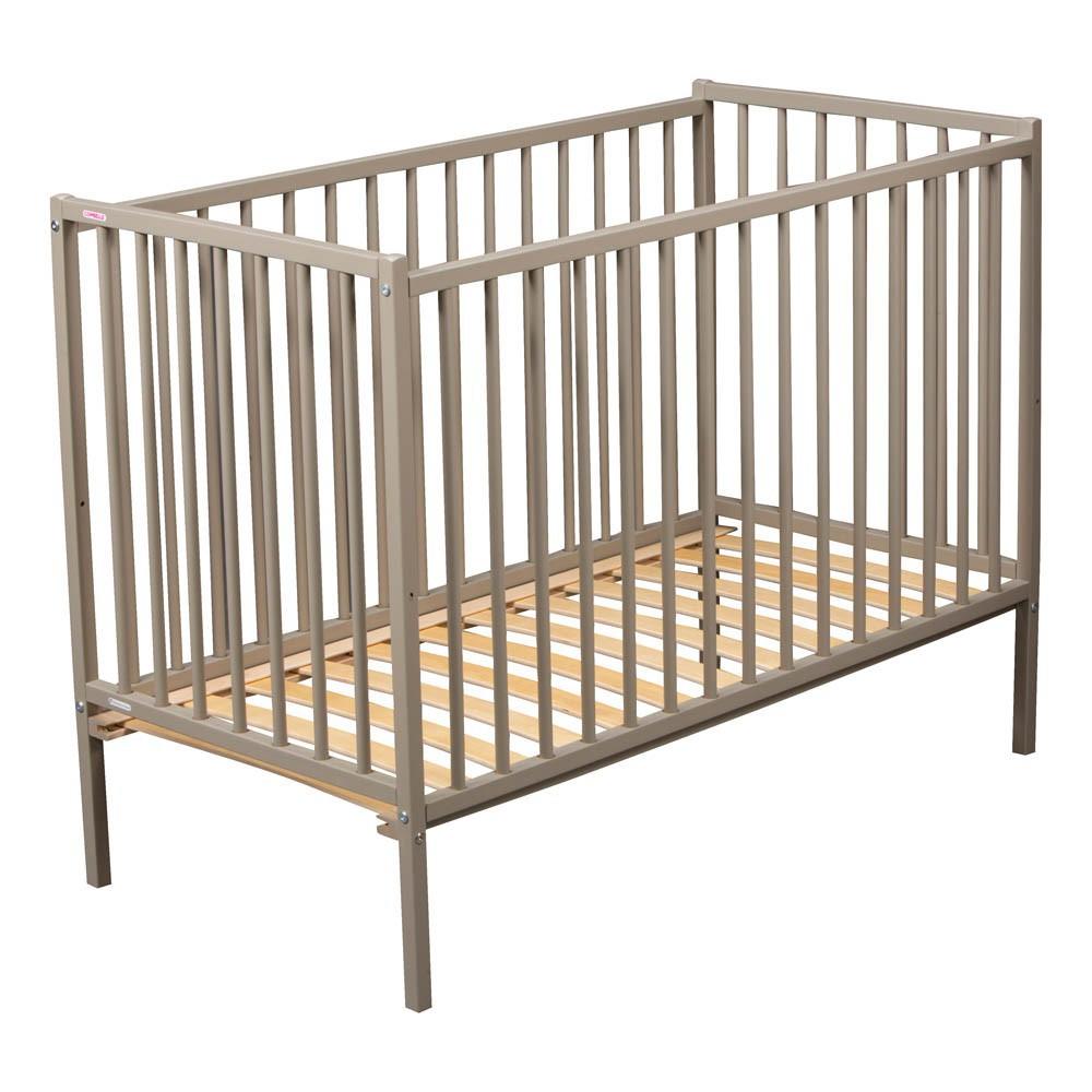 lit b b r mi 70x140 cm laqu gris combelle design b b. Black Bedroom Furniture Sets. Home Design Ideas