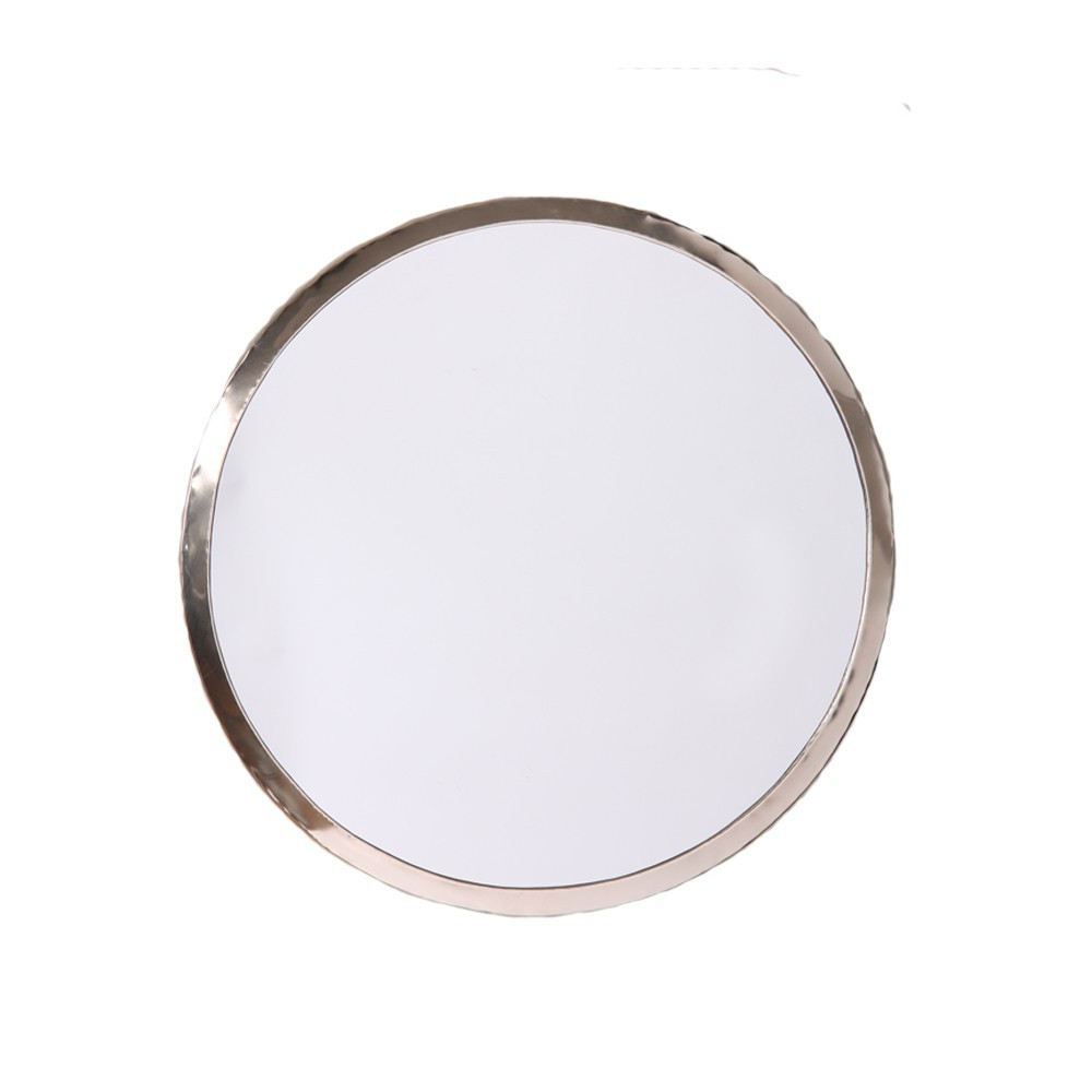 Miroir en maillechort rond naturel smallable home design for Miroir rond xl