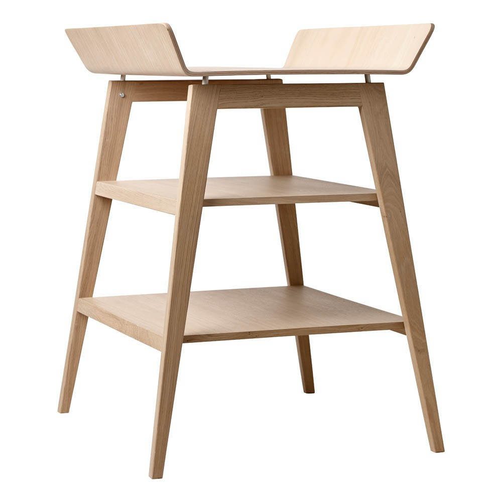Lin a changing table oak leander design baby for Table a langer en solde