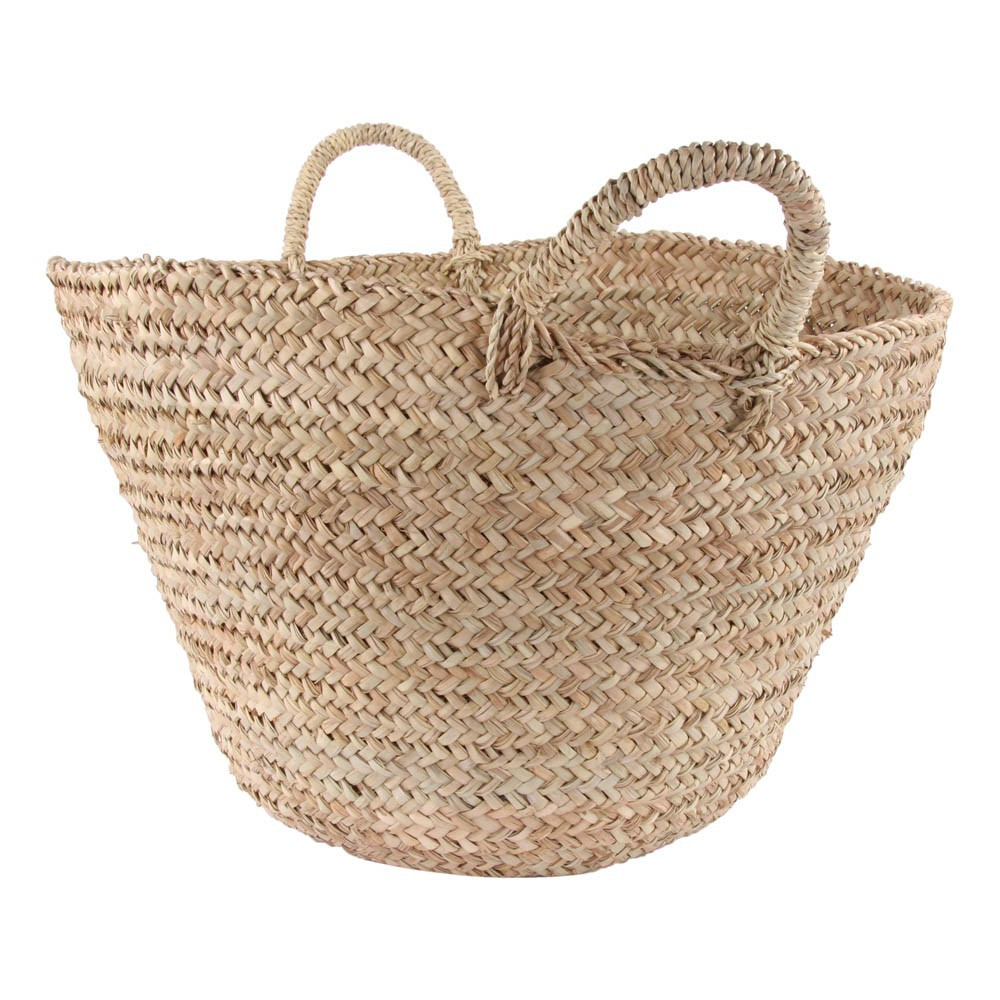 How To Weave A Coconut Leaf Basket : Woven palm leaf basket natural smallable home design adult