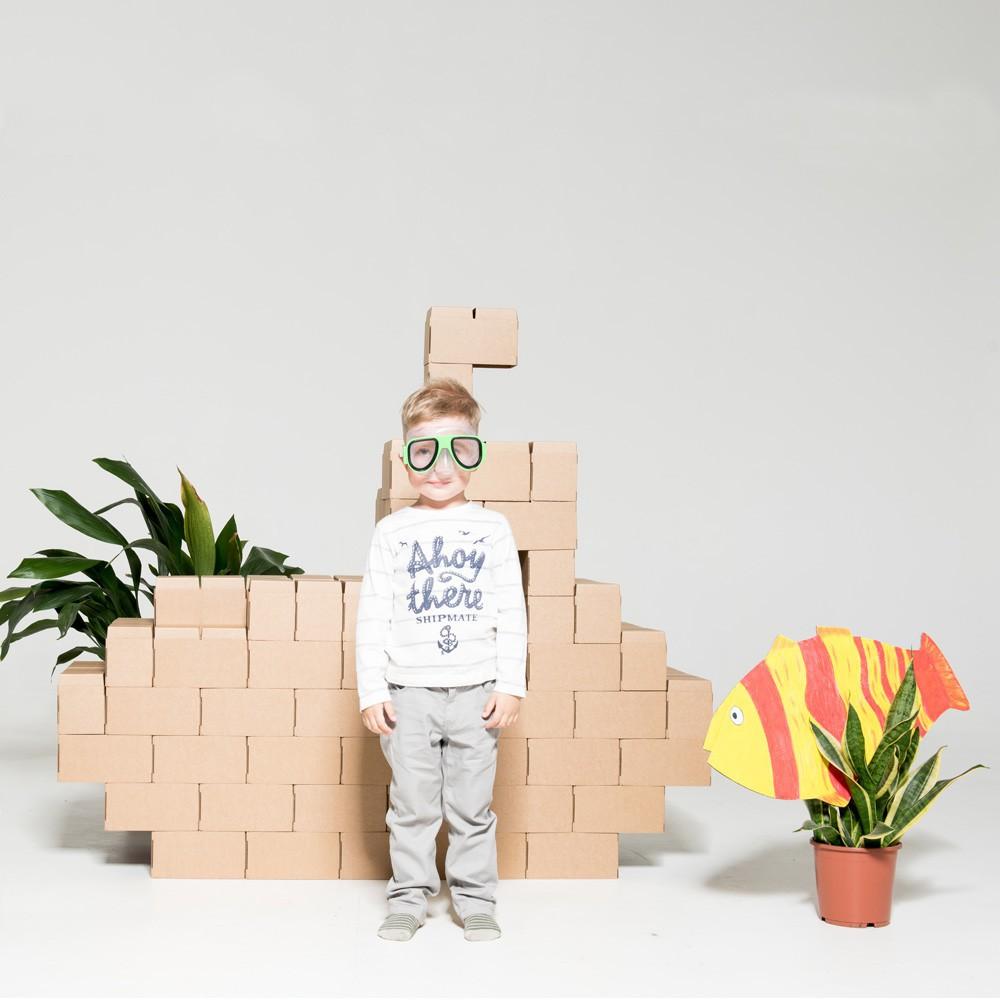 jeu de construction en carton set de 60 blocs naturel gigi. Black Bedroom Furniture Sets. Home Design Ideas