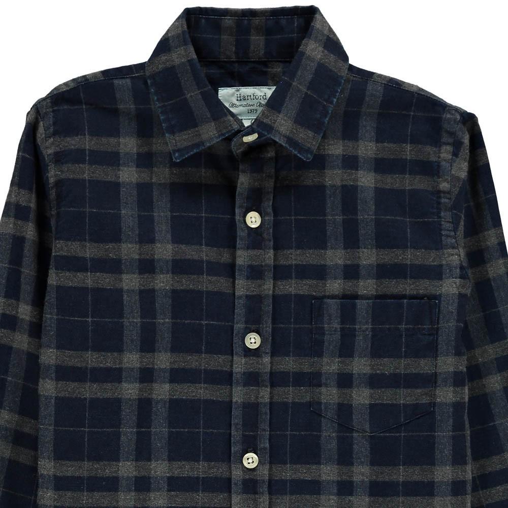 chemise plaid carreaux paul bleu marine hartford mode adolescent. Black Bedroom Furniture Sets. Home Design Ideas