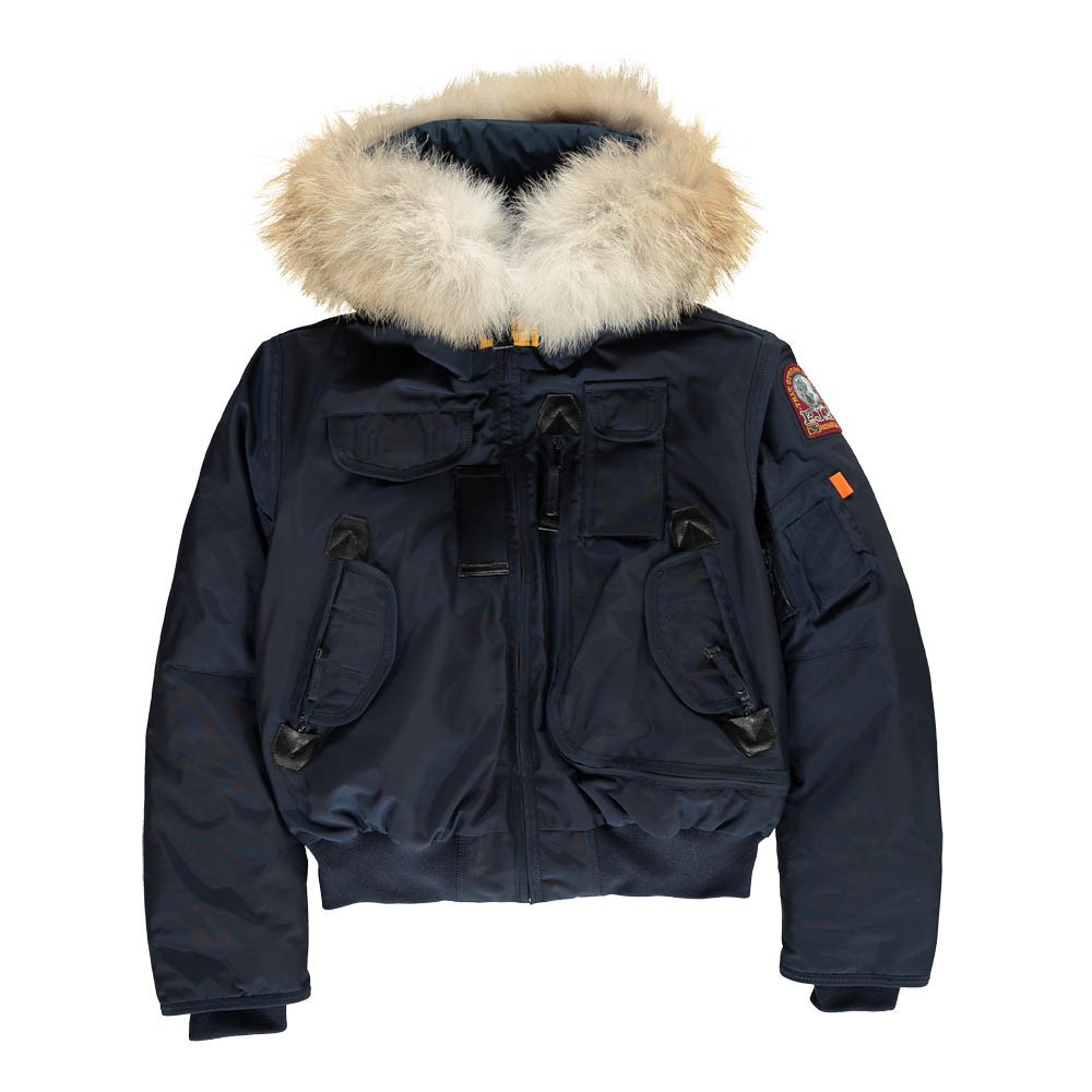 bomber capuche fourrure gobi boy bleu parajumpers mode adolescent. Black Bedroom Furniture Sets. Home Design Ideas