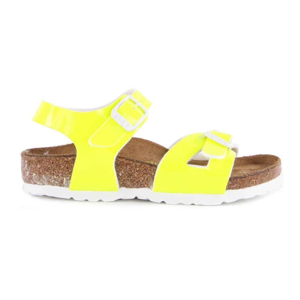 Sandales vernis fluo rio jaune fluo birkenstock chaussure enfant