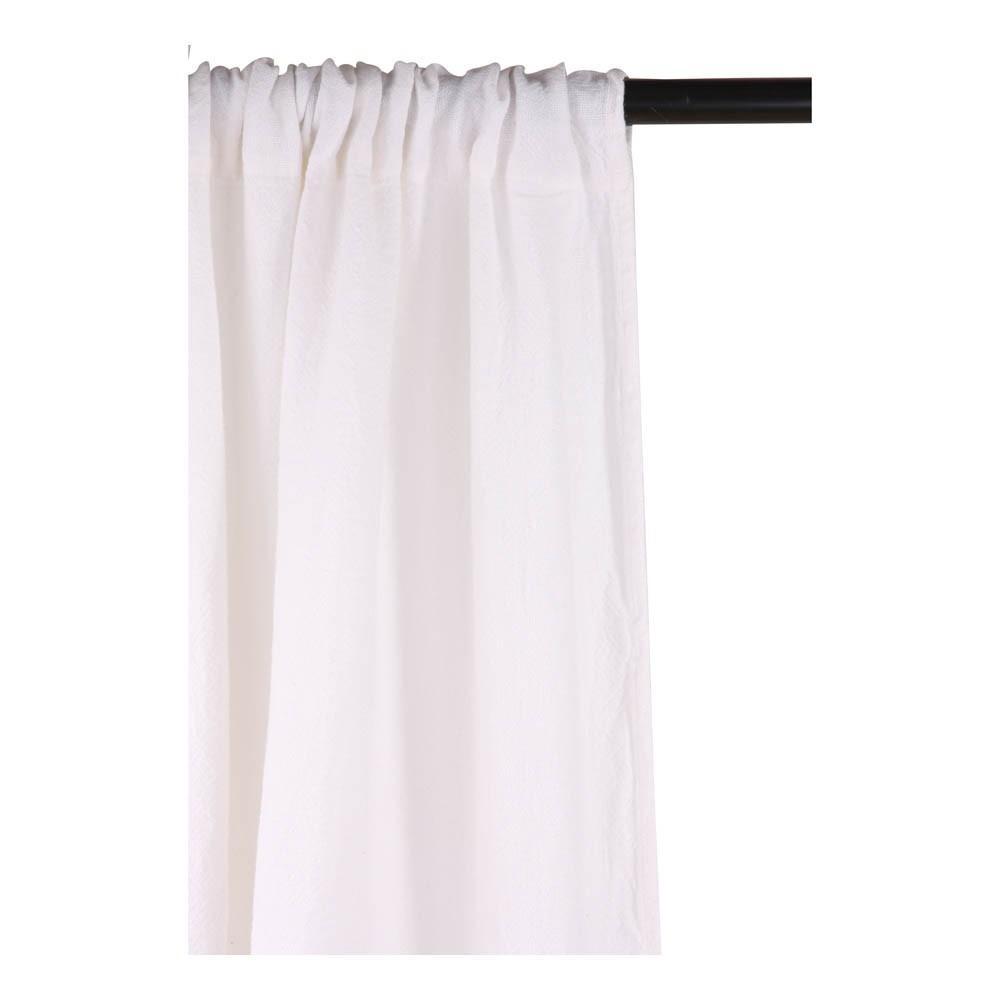 rideau pais en canvas de lin blanc linge particulier design. Black Bedroom Furniture Sets. Home Design Ideas