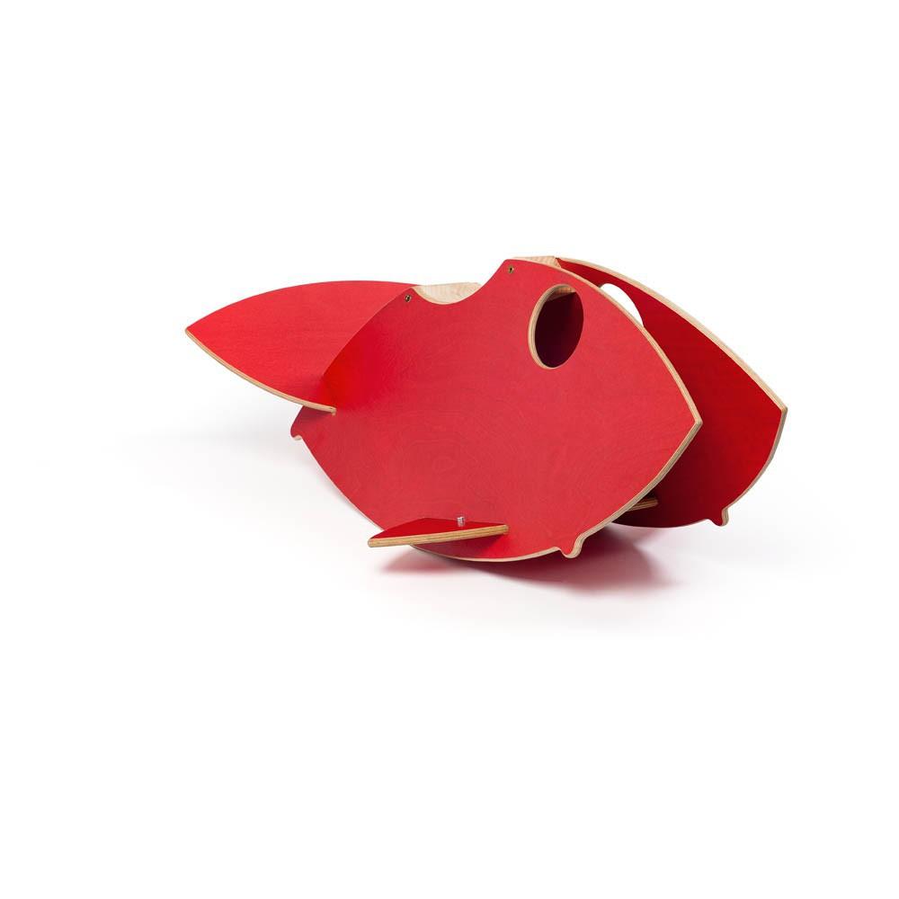 schaukel fisch aus holz rot dondolo spiele und freizeit. Black Bedroom Furniture Sets. Home Design Ideas