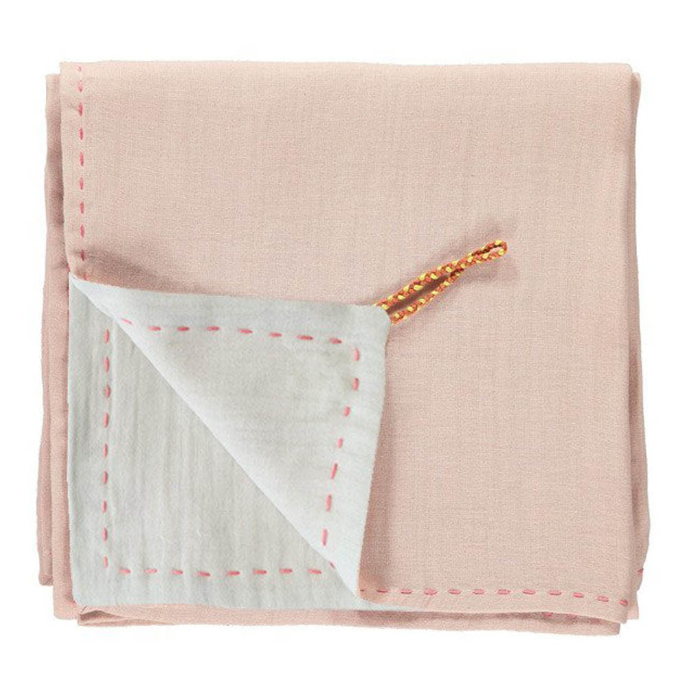 couverture l g re bicolore brod e main rose camomile london. Black Bedroom Furniture Sets. Home Design Ideas