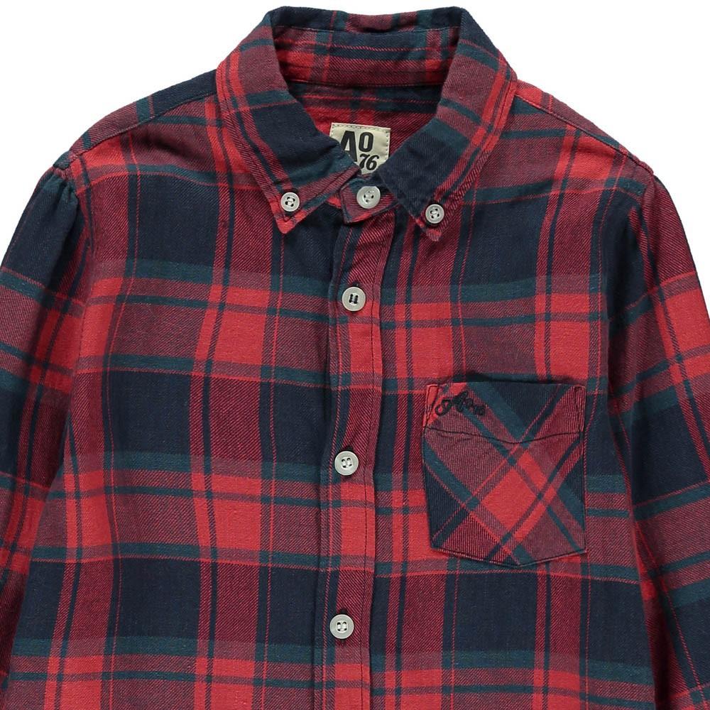 chemise grands carreaux rouge ao76 mode adolescent enfant. Black Bedroom Furniture Sets. Home Design Ideas