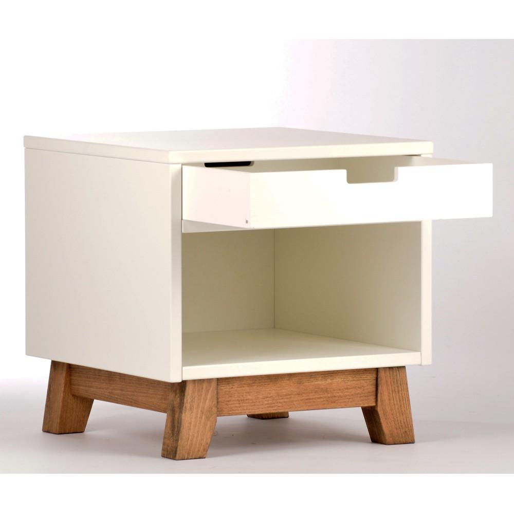 table de nuit trendy blanc quax design enfant. Black Bedroom Furniture Sets. Home Design Ideas