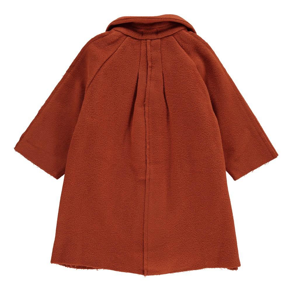 manteau drap de laine marron tambere mode enfant. Black Bedroom Furniture Sets. Home Design Ideas