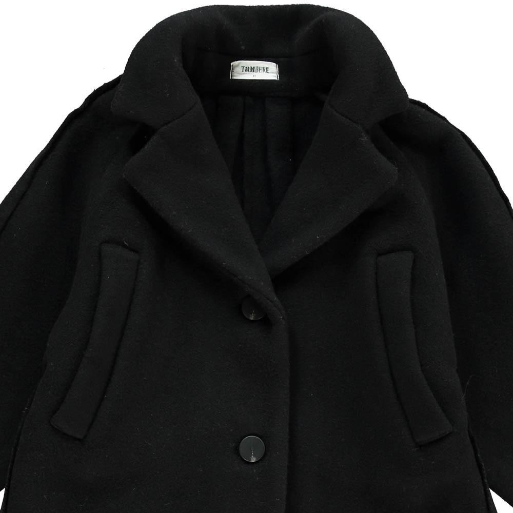 manteau drap de laine noir tambere mode enfant. Black Bedroom Furniture Sets. Home Design Ideas