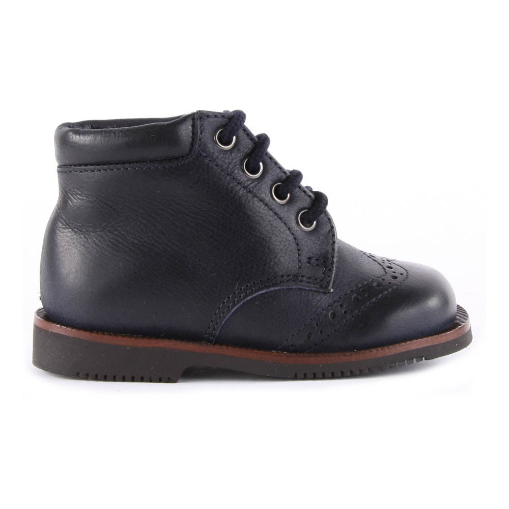 boots cuir fourr es mouton bleu marine gallucci chaussure b b. Black Bedroom Furniture Sets. Home Design Ideas