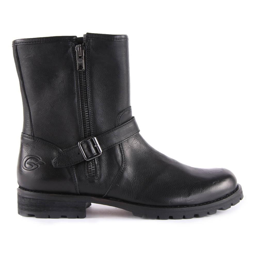 boots cuir double zip noir gallucci chaussure adolescent enfant. Black Bedroom Furniture Sets. Home Design Ideas