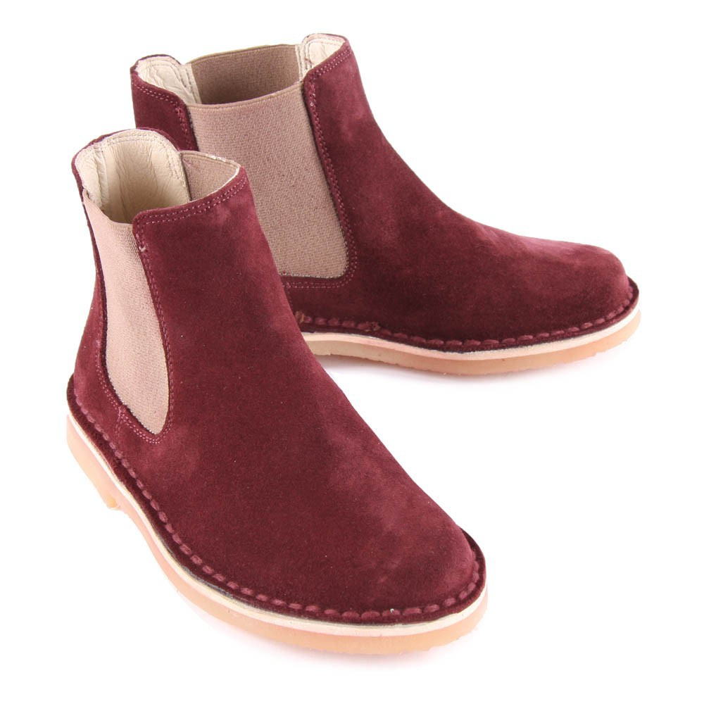velvet chelsea boots bordeaux bonton shoes teen children. Black Bedroom Furniture Sets. Home Design Ideas