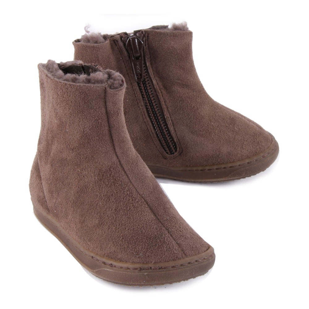 leather lined boots with zip brown p 232 p 232 shoes baby