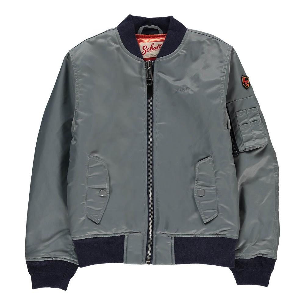 American College Bomber Jacket Grey Schott Fashion Teen ,